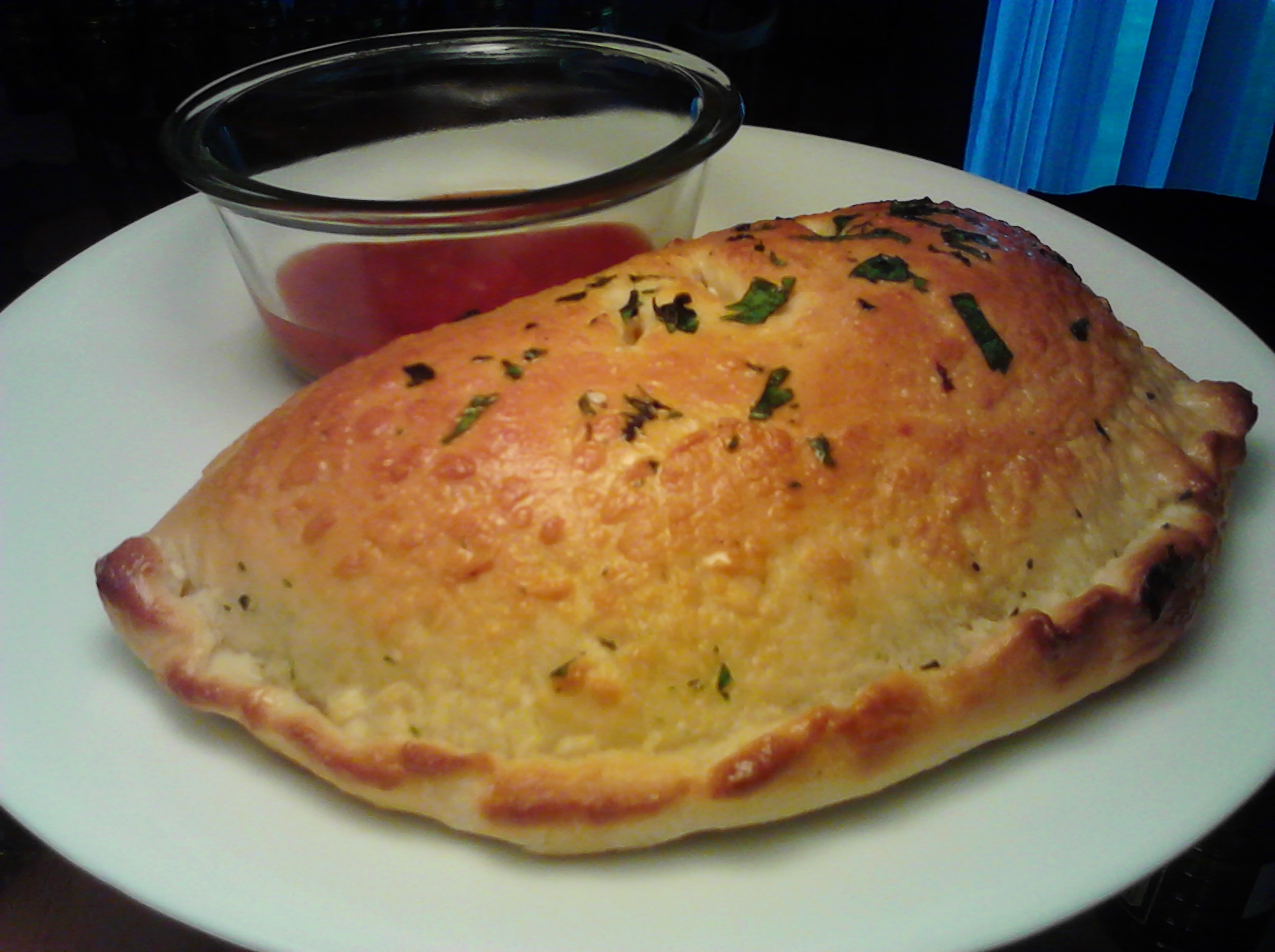 Calzones- Saucey, Meaty, Golden Brown and Cheesy