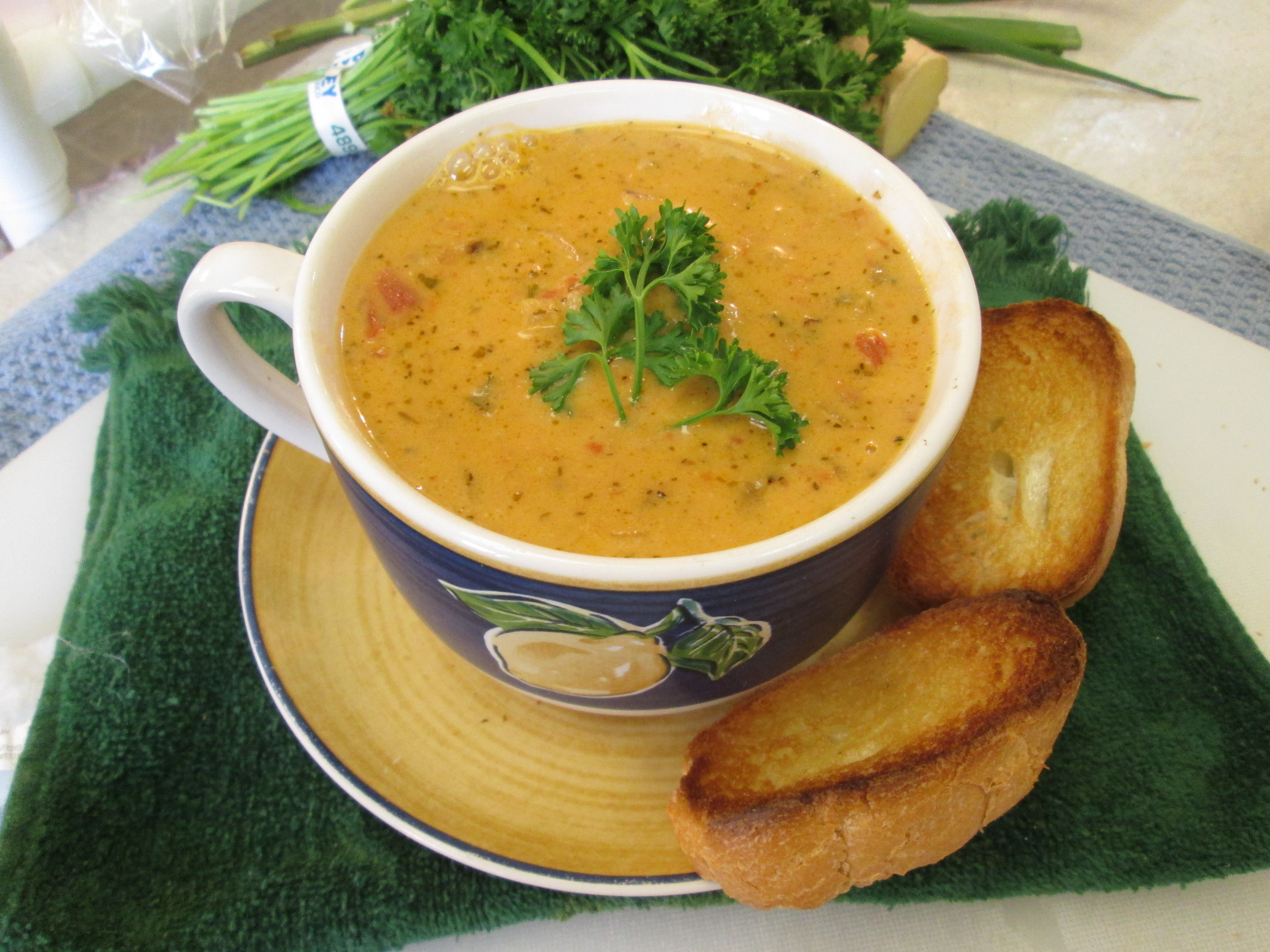 Lobster Bisque with Langostino Lobster Tails