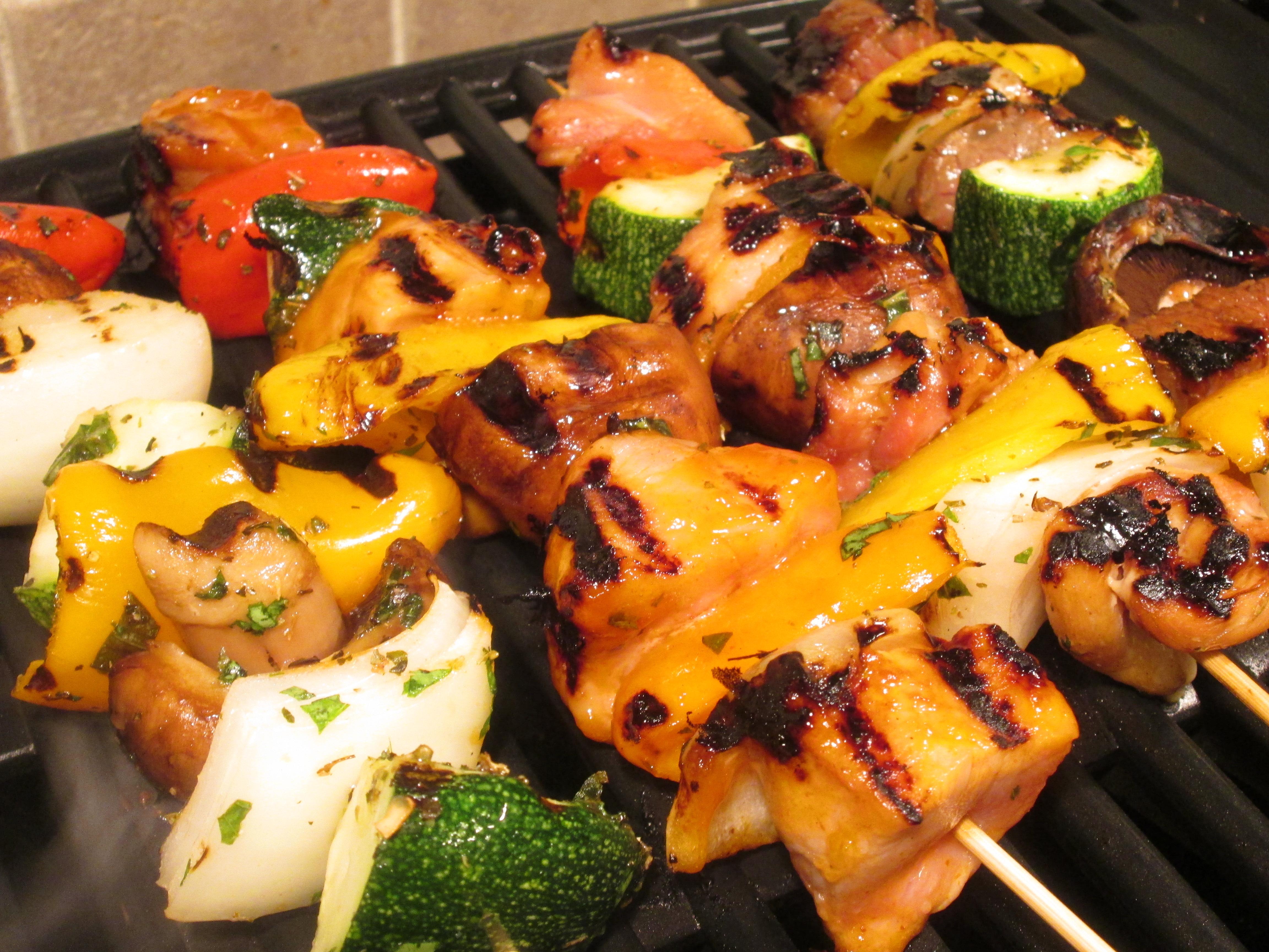 Teriyaki and Mesquite Shish Kebabs