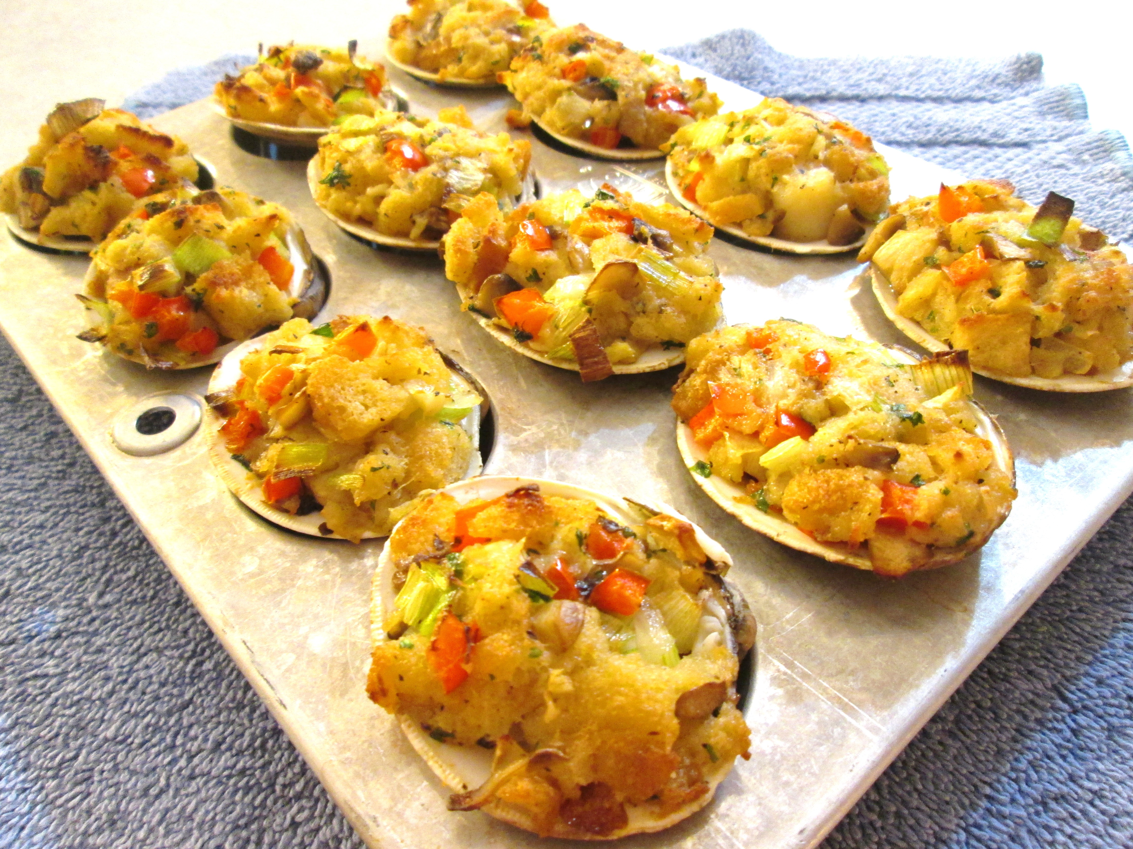 Stuffed Clams Baked with Bay Scallops - Poor Man's Gourmet ...