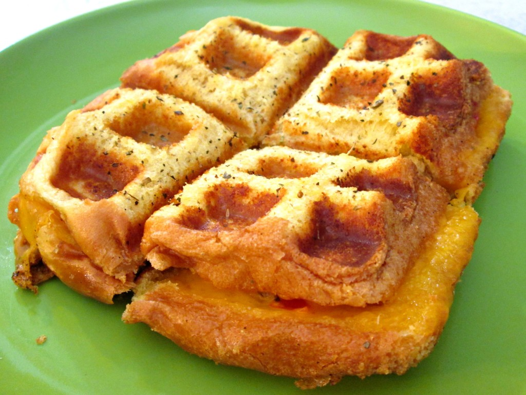 Waffle Iron Grilled Cheese Main Pic