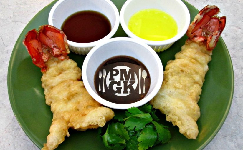 Tempura Lobster Tails with Dipping Sauce