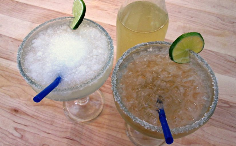 Lime Margarita Frozen and on The Rocks