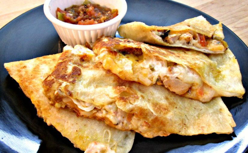 Quesadilla with Grilled Chicken and Jack Cheese