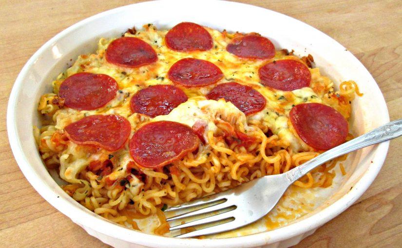 Ramen Spaghetti Pizza