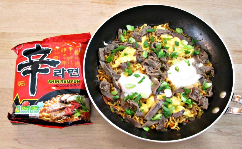 Korean Shin Ramyun Kujiari style Ramen with Beef