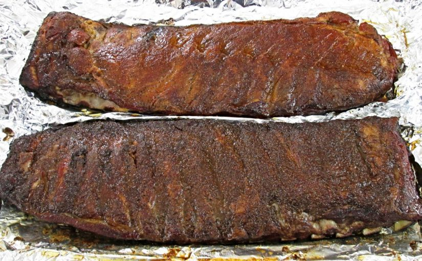 Smoked Spare Ribs on a Gas Grill