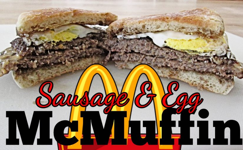 Double Sausage and Egg McMuffin with Cheese